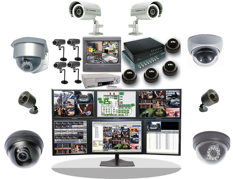 Видеонаблюдение с записью для контроля за сохранностью имущества