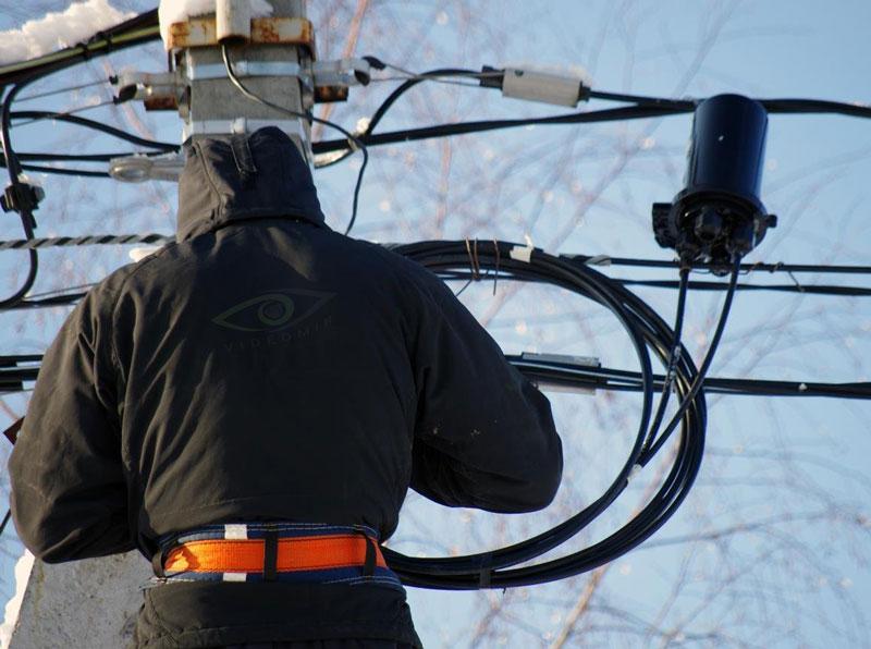Прокладка оптического кабеля