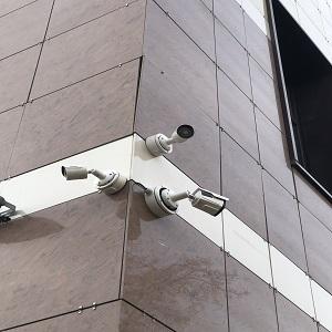 Установка видеонаблюдения на торговом центре